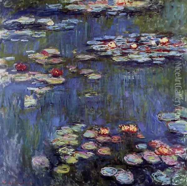 Water Lilies27 Oil Painting - Claude Oscar Monet