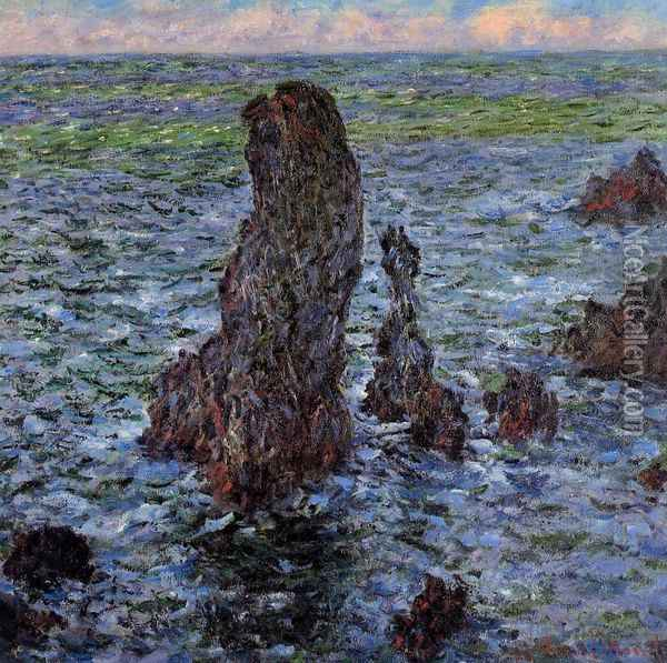 The 'Pyramids' at Port-Coton Oil Painting - Claude Oscar Monet