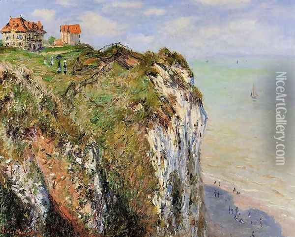 The Cliff At Dieppe Oil Painting - Claude Oscar Monet