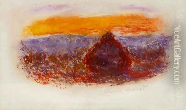 Grainstack At Sunset2 Oil Painting - Claude Oscar Monet