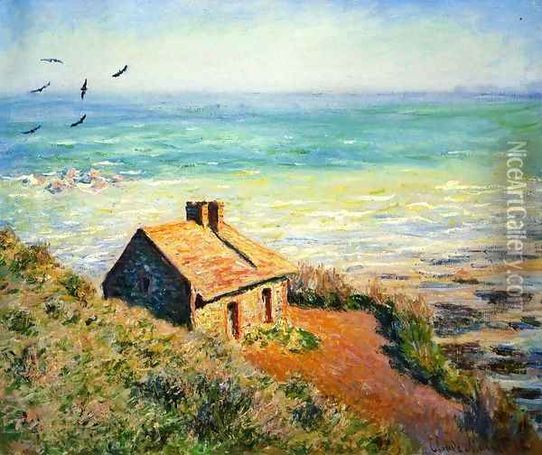 The Costoms House Morning Effect Oil Painting - Claude Oscar Monet
