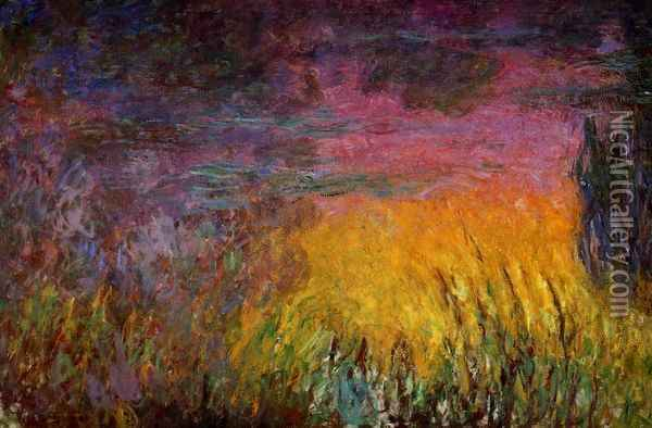 Sunset (left half) Oil Painting - Claude Oscar Monet