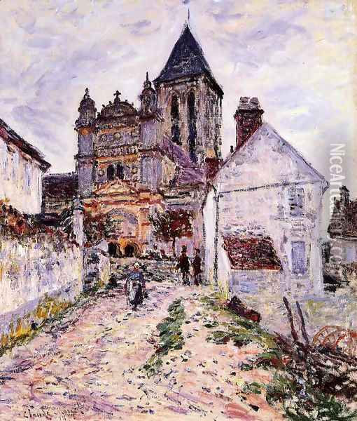 The Church At Vetheuil Oil Painting - Claude Oscar Monet