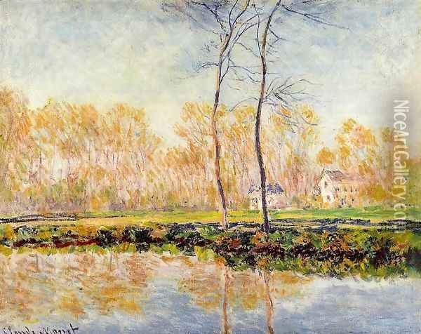 The Banks Of The River Epte At Giverny Oil Painting - Claude Oscar Monet