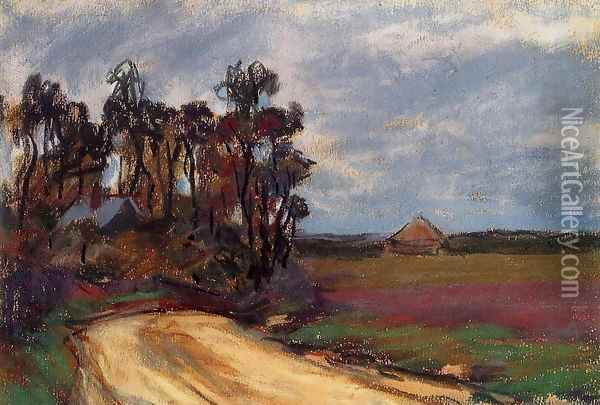 The Road And The House Oil Painting - Claude Oscar Monet