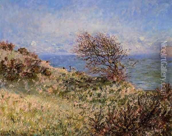 On The Cliff At Fecamp Oil Painting - Claude Oscar Monet