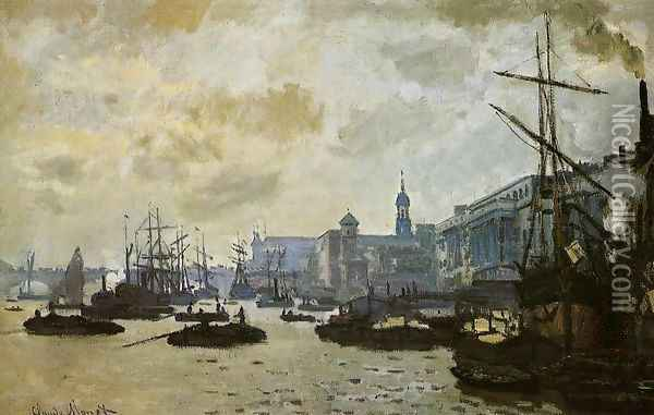 The Port Of London Oil Painting - Claude Oscar Monet