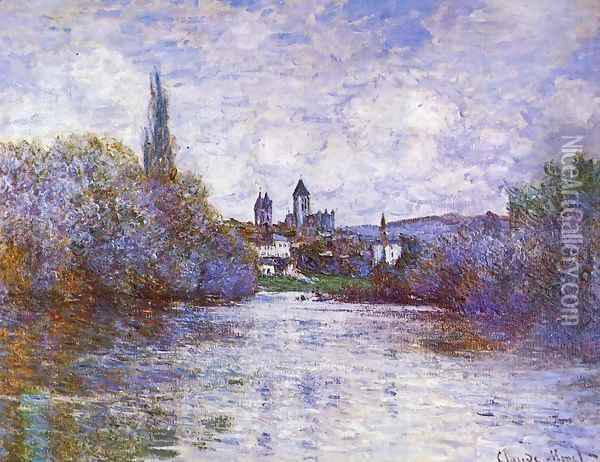 The Small Arm Of The Seine At Vetheuil Oil Painting - Claude Oscar Monet