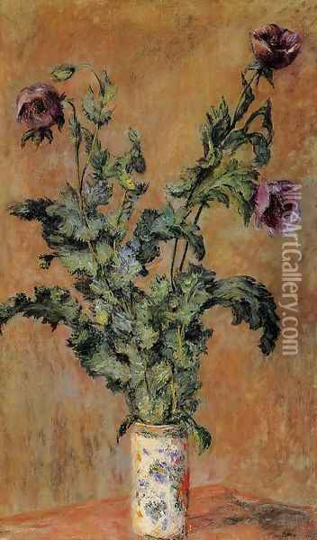 Vase Of Poppies Oil Painting - Claude Oscar Monet