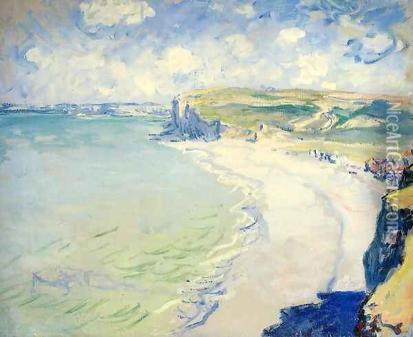 The Beach At Pourville Oil Painting - Claude Oscar Monet