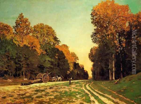 The Road From Chailly To Fontainebleau Oil Painting - Claude Oscar Monet