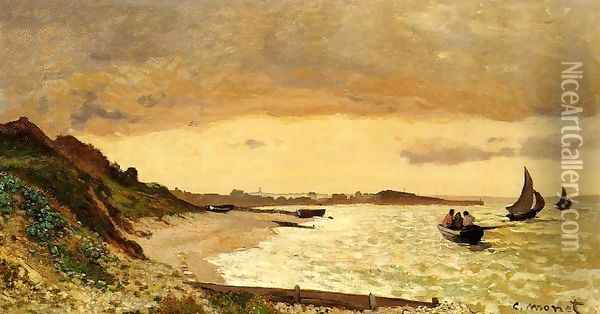 The Coast At Sainte Adresse Oil Painting - Claude Oscar Monet