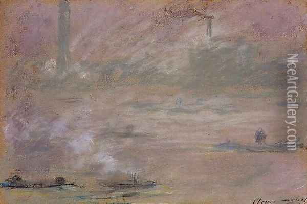 London Boats On The Thames Oil Painting - Claude Oscar Monet