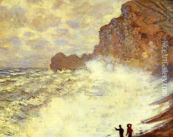 Stormy Weather At Etretat Oil Painting - Claude Oscar Monet