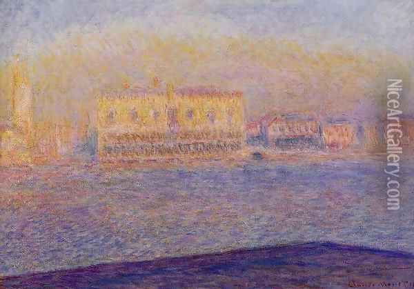 Venice The Doges Palace Seen From San Giorgio Maggiore Oil Painting - Claude Oscar Monet