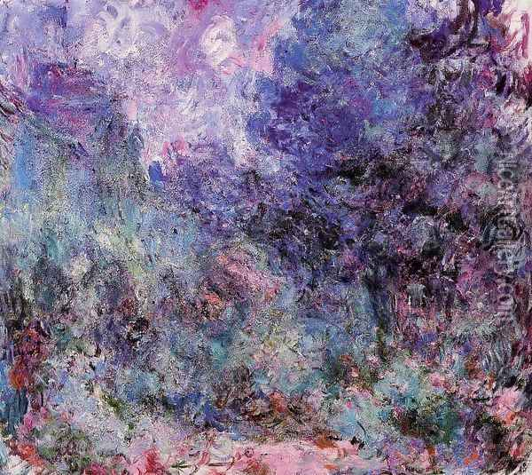 The House Seen From The Rose Garden2 Oil Painting - Claude Oscar Monet
