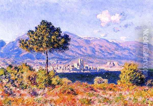 View of Antibes from the Plateau Notre-Dame Oil Painting - Claude Oscar Monet