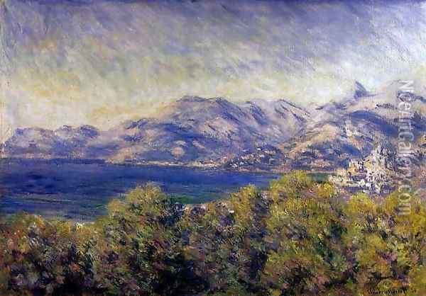 View Of Ventimiglia Oil Painting - Claude Oscar Monet