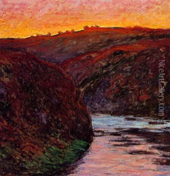 Valley of the Creuse, Sunset I Oil Painting - Claude Oscar Monet