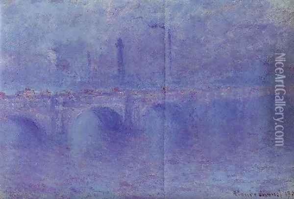 Waterloo Bridge Fog Effect Oil Painting - Claude Oscar Monet