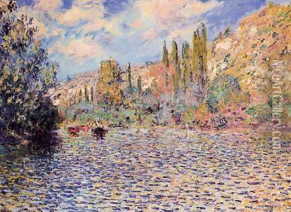 The Seine At Vetheuil Oil Painting - Claude Oscar Monet