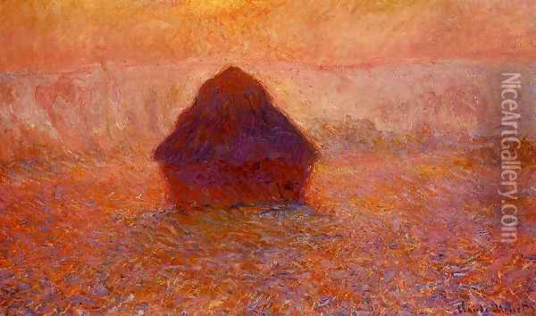 Grainstack Sun In The Mist Oil Painting - Claude Oscar Monet