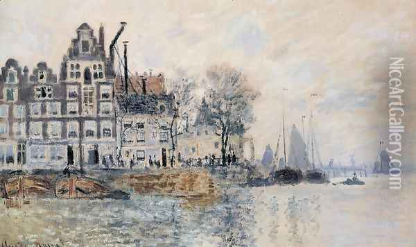View Of Amsterdam Oil Painting - Claude Oscar Monet