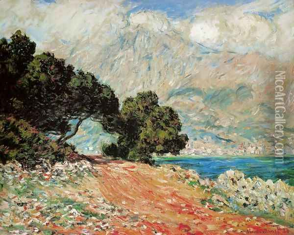 Cap Martin, near Boston Oil Painting - Claude Oscar Monet