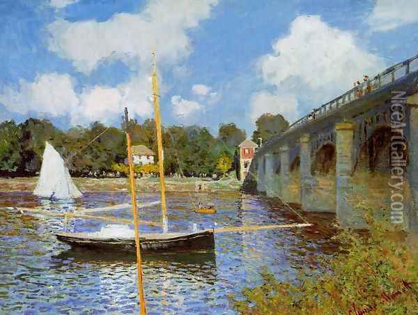 The Road Bridge At Argenteuil Oil Painting - Claude Oscar Monet