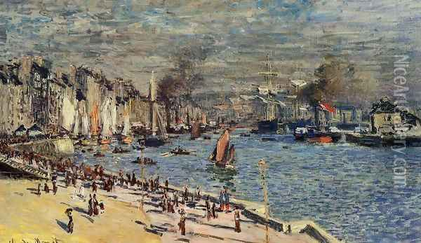 View Of The Old Outer Harbor At Le Havre Oil Painting - Claude Oscar Monet