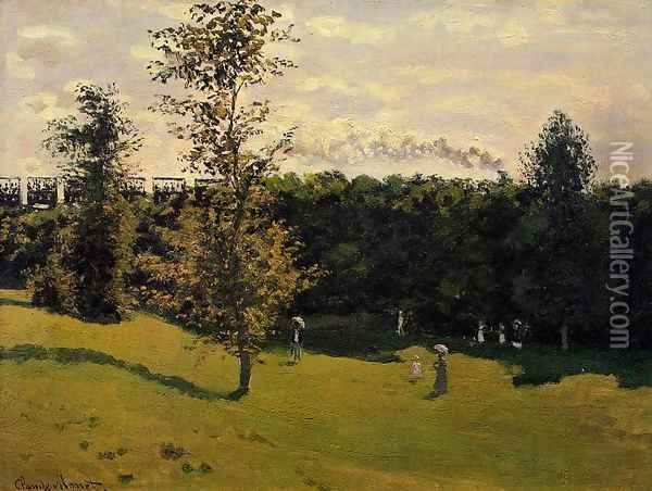 Train In The Country Oil Painting - Claude Oscar Monet