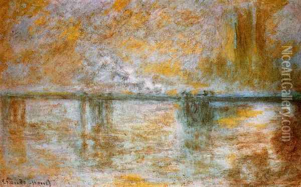 Charing Cross Bridge III Oil Painting - Claude Oscar Monet