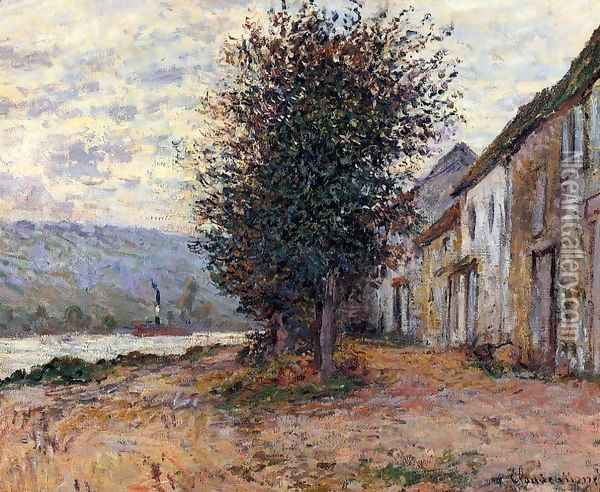 The Banks Of The Seine At (Claude Oscar Monet 1878) Oil Painting - Claude Oscar Monet