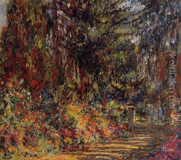 The Path At Giverny Oil Painting - Claude Oscar Monet