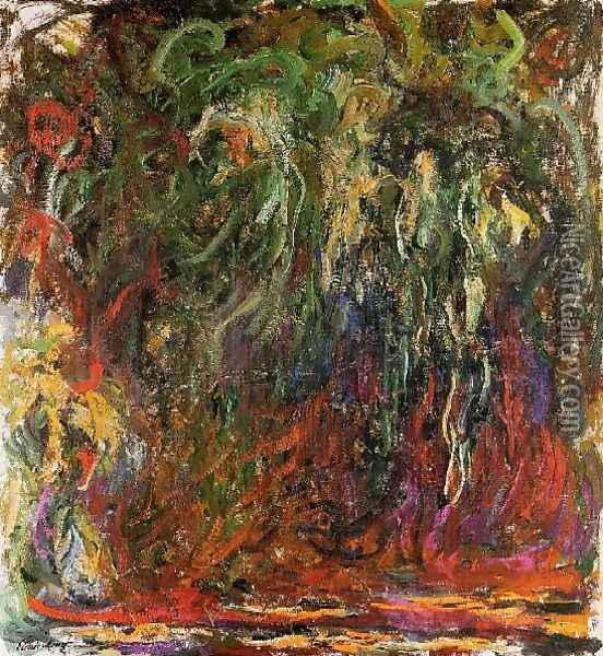 Weeping Willow Giverny Oil Painting - Claude Oscar Monet