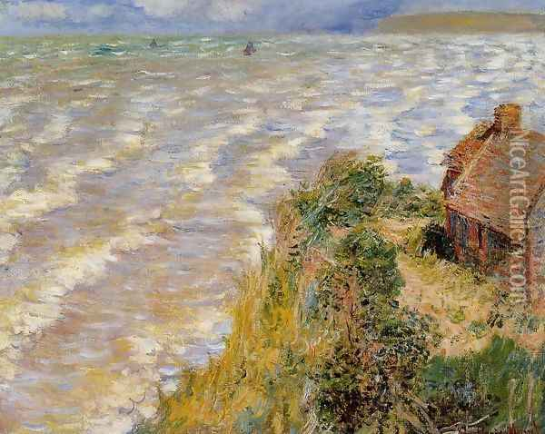 Rising Tide At Pourville Oil Painting - Claude Oscar Monet