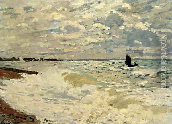 The Sea At Saint Adresse Oil Painting - Claude Oscar Monet