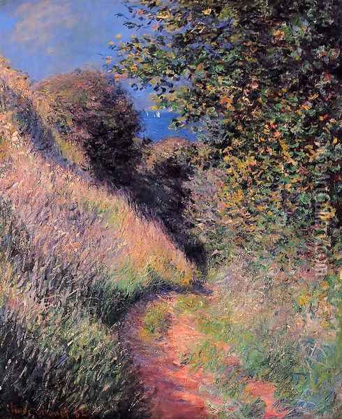 Path At Pourville Oil Painting - Claude Oscar Monet