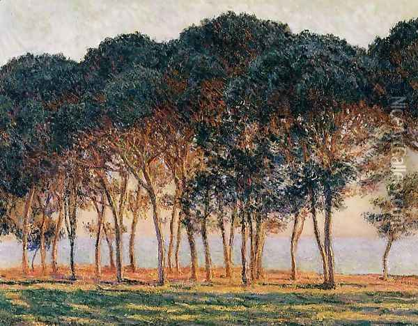 Under The Pine Trees At The End Of The Day Oil Painting - Claude Oscar Monet