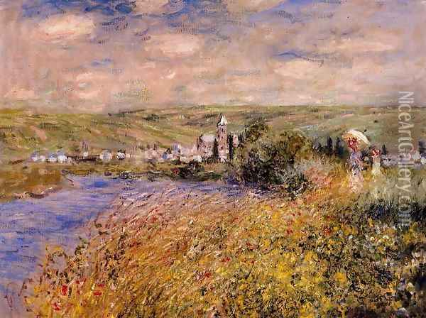 Vetheuil Seen From Ile Saint Martin Oil Painting - Claude Oscar Monet