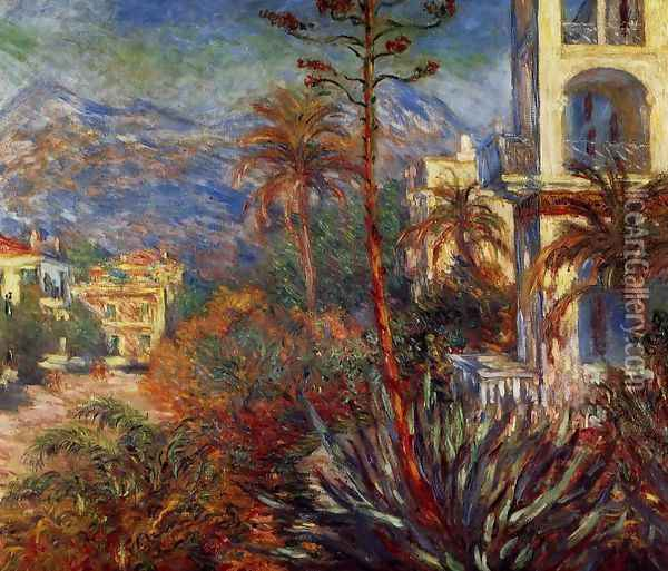 Villas At Bordighera Oil Painting - Claude Oscar Monet