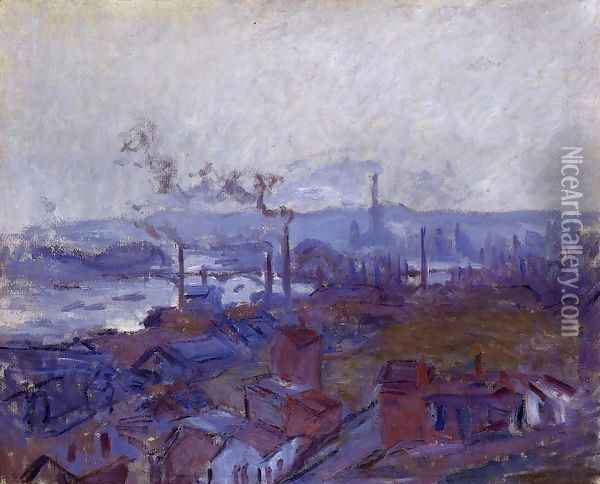 View Of Rouen From The Cote Sainte Catherine Oil Painting - Claude Oscar Monet