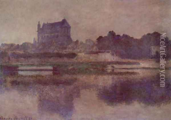Vernon Church In Grey Weather Oil Painting - Claude Oscar Monet