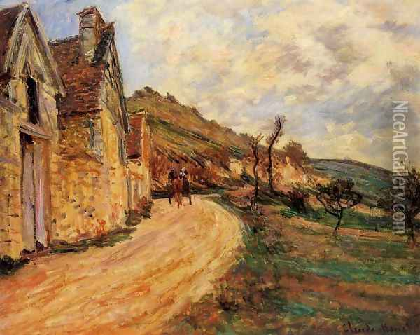 Les Roches At Falaise Near Giverny Oil Painting - Claude Oscar Monet