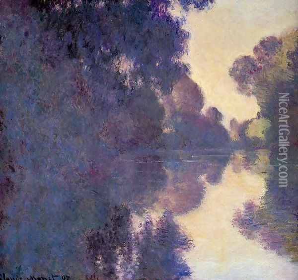 Morning On The Seine Clear Weather Oil Painting - Claude Oscar Monet