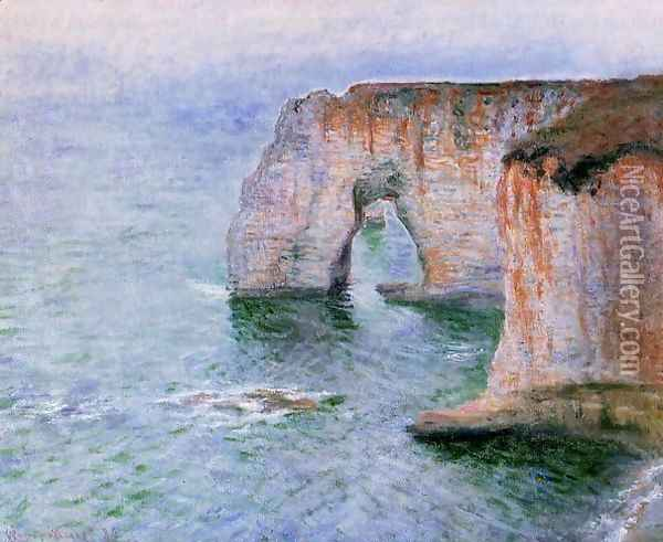 The Manneport Seen From The East Oil Painting - Claude Oscar Monet