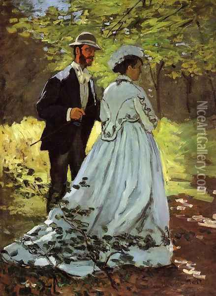 The Strollers Oil Painting - Claude Oscar Monet