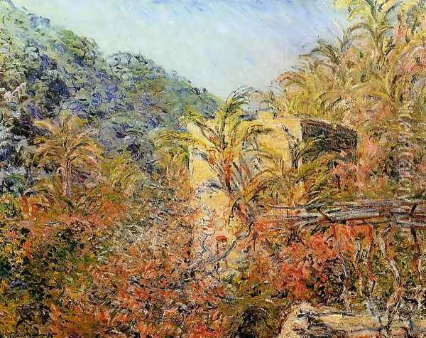 The Valley Of Sasso Sunshine Oil Painting - Claude Oscar Monet