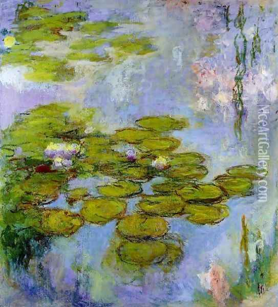 Water Lilies13 Oil Painting - Claude Oscar Monet