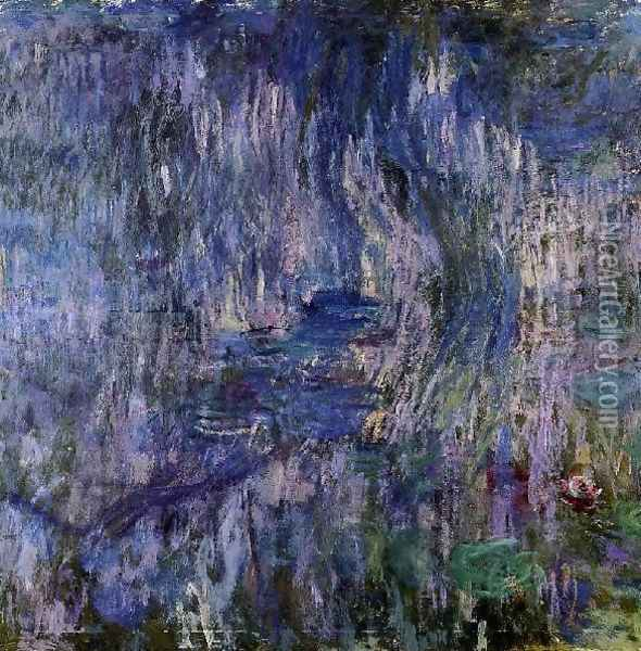 Water Lilies Reflection Of A Weeping Willow61 Oil Painting - Claude Oscar Monet